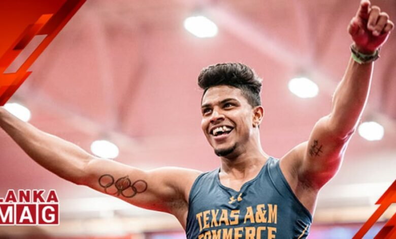 Ushan Thiwanka sets new Sri Lanka and South Asia high jump record